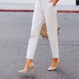 Pants - White Ankle Slacks